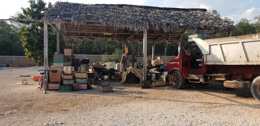 L'atelier de réparation des ruches